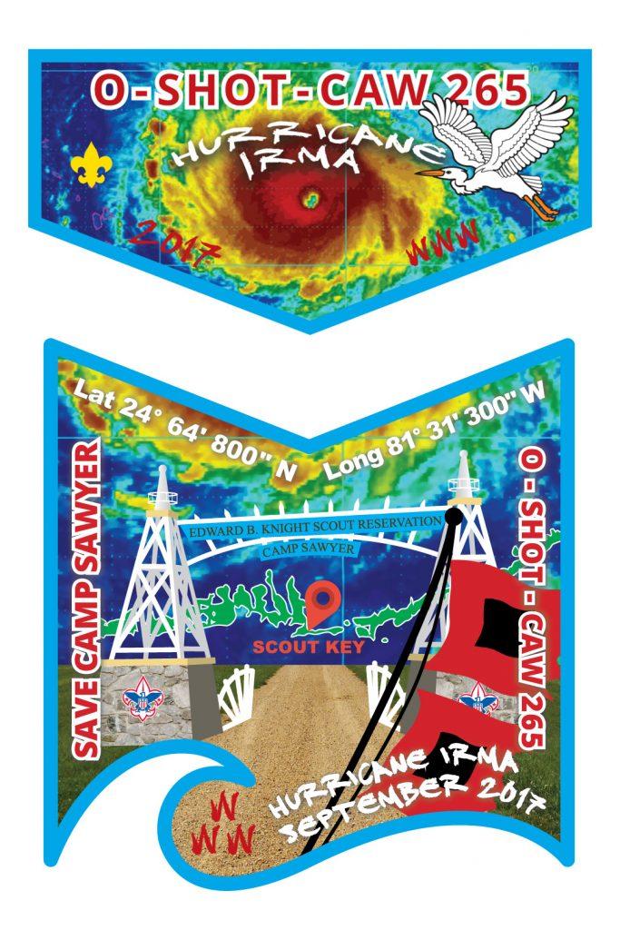 Hurricane Irma Blue Flap