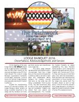 2016 Lodge Banquet